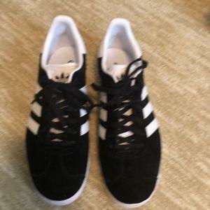New Gazelle women's black suede sneakers